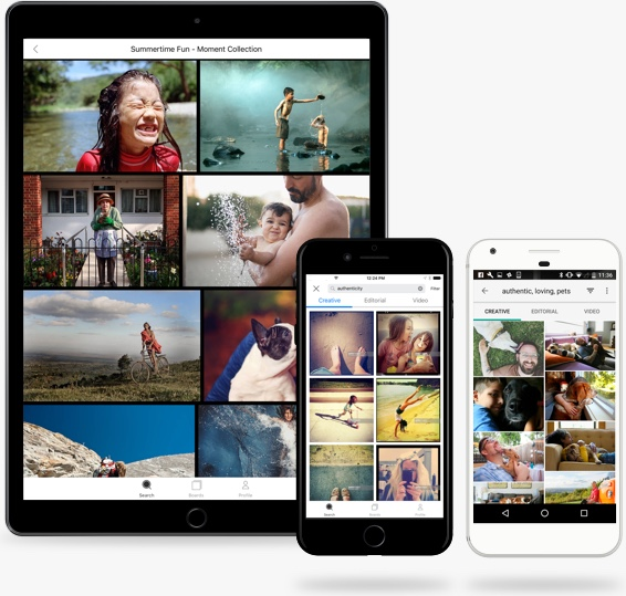 Search for Images on the Getty Images App